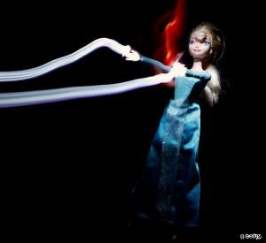 Elsa v2 lightning drawing